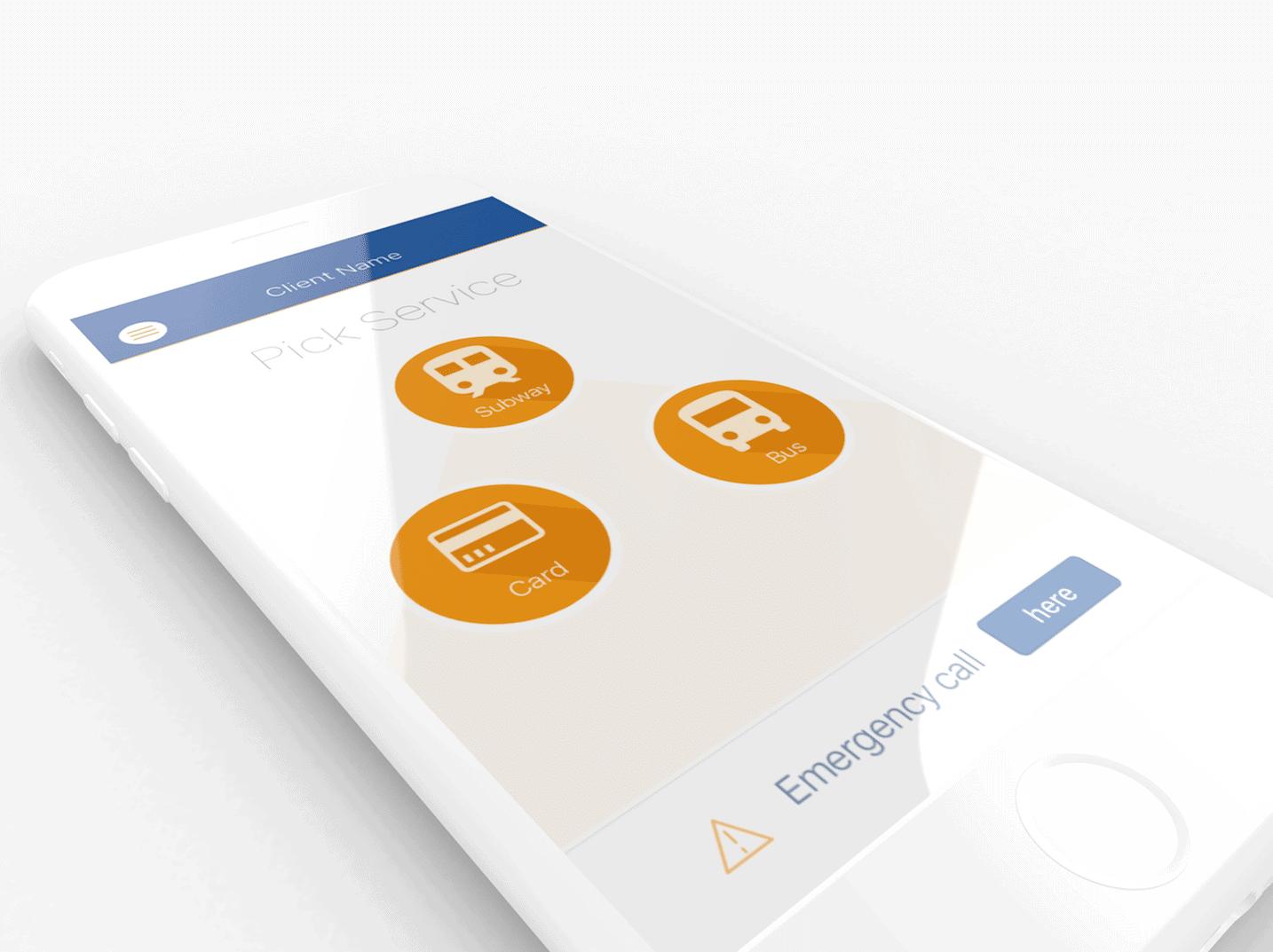 App UI Öffentlicher Nahverkehr